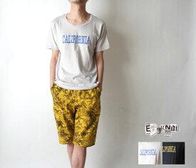 50%OFF 【ETERNAL(エターナル)】13006 オーガニックコットン CALIFORNIA刺繍 Uネック半袖Tシャツ 【日本製】【セール】【SALE】