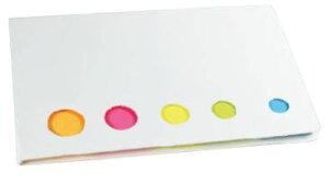 5色付箋メモ(白) ケース販売 まとめ買い 業務用 粗品 販促 ノベルティ 粗品 記念品 記念品