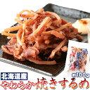 北海道産やわらかまるごと 焼きするめ100g クセになる味と食感!!一夜干しを使用した☆ 1000円ポッキリ 送料無料