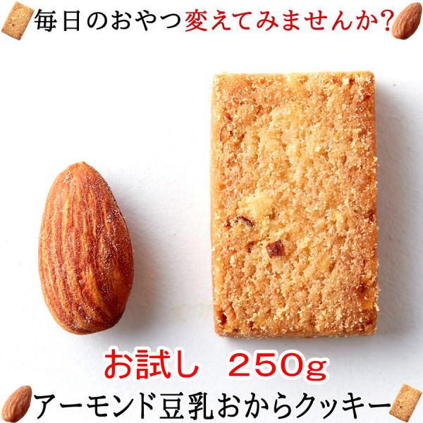 アーモンド豆乳 おからクッキー 【訳あり】250gお試し 大注目のアーモンド効果をプラス!!【おから ダイエット クッキー】【thxgd_18】