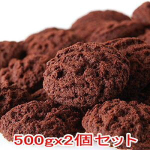 おからクッキー リッチカカオ1kg(500gx2個) カカオ分22%配合でほろ苦い!大人の豆乳おからクッキー【本州 送料無料】