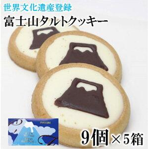 富士山タルトクッキー 9個×5箱 静岡 山梨 お土産 おみやげ みやげ クッキー チョコクッキー 富士山 富士山みやげ 手土産 世界文化遺産 スイーツ 焼き菓子
