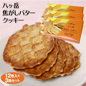 【山梨 お土産】八ヶ岳焦がしバタークッキー バタークッキー 八ヶ岳 12個×3箱