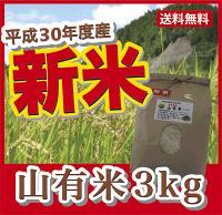 【送料無料】【平成30年度産】山有米(3kg)