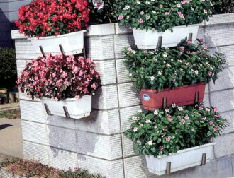 Stainless steel planter hanger 2-stage type No.98 2 pieces one set is