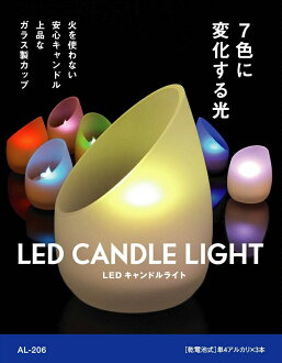 Lightex (RITEX) LED candle light Interior LED light light-7 color changing battery-operated AL-206 candles for real like