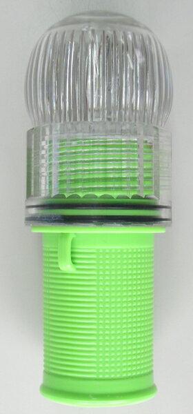 アイライト(簡易小型標識灯) 獣避けに最適!!耐防水100m!!どんな雨でも海に落としても大丈夫なフラッシュライト2色発光(赤+5色)LED防水型点滅灯