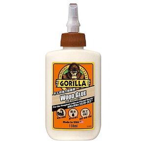 【ゴリラ】ウッドグルー 木材・布・紙用接着剤 118ml(KURE-E-1773)【The Gorilla Glue Company/KURE】水に強く、屋外でも使用可能!硬化後は塗装、研磨、切削OK!木工用強力瞬間接着剤