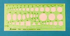 【頑張って送料無料!】ネコポスのため代引き・日時指定不可シンワ テンプレート一般総合定規(小) TH-2 66022