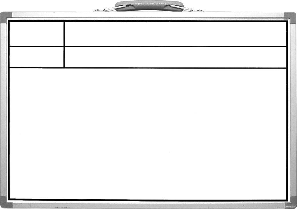 シンワ 工事用ホワイトボードCSW 30×45cm 工事名・工種 横  77366