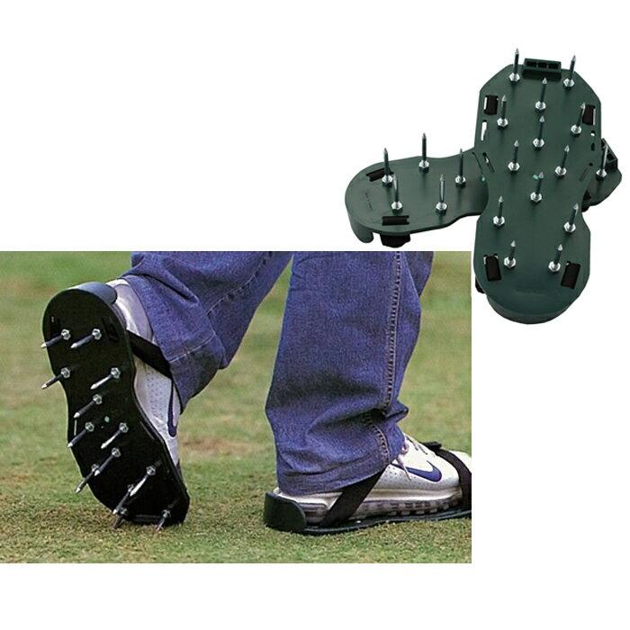 【ガーデンスパイク】芝生を元気に!靴に簡単装着 歩いて芝生に穴を開けることにより通気性が良くなり成長を促します芝生の元気が無いときはいつでも使用して下さい!ローンスパイクより楽ですよ!【頑張って送料無料!】