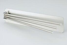 【安心の日本製】マグネットでピタッとステンレスふきん掛け 38030マグネットで冷蔵庫のドアなどにピタッとくっつく!幅26.6×奥行2.2×高さ6.5cm