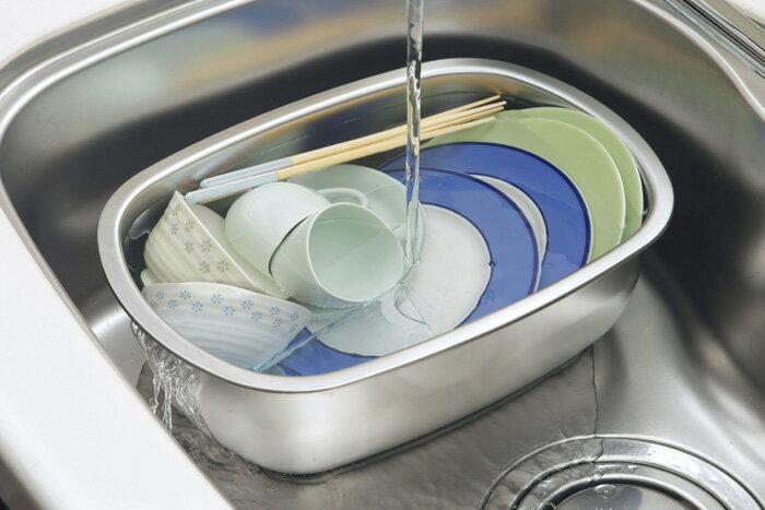 【30248】【安心の日本製】オールステンレス製小判型洗い桶 足付【頑張って送料無料!】