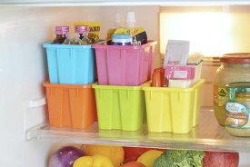 冷蔵庫でカラフルボックスSS 5色組 34658カラフルでポップな小物入れ、収納ケース<安心の日本製>【頑張って送料無料!】