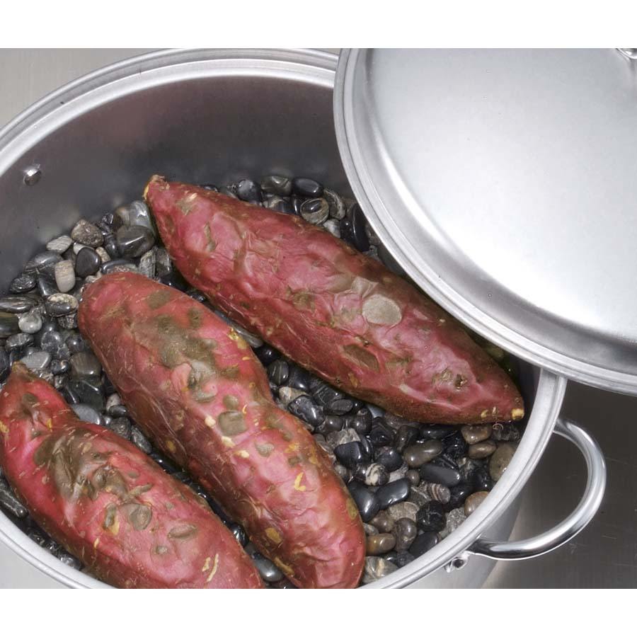 キャプテンスタッグ 石焼きいも鍋26cm(石2kg付)遠赤外線効果で甘さが格段に増しますM-5558