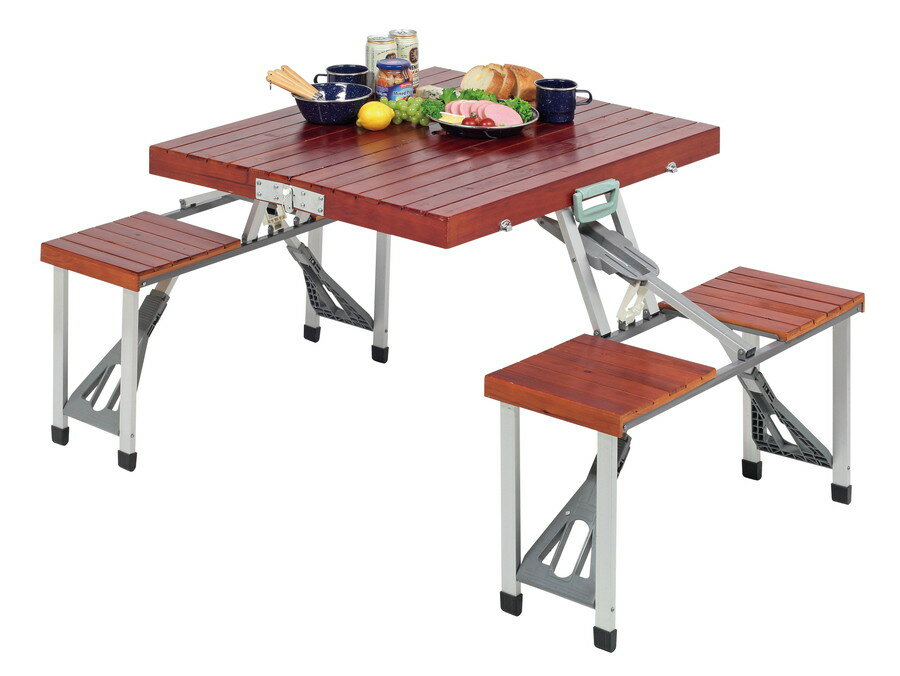 Captain Stag NEW Branch Cedar Picnic Tables (Brown) UC 6