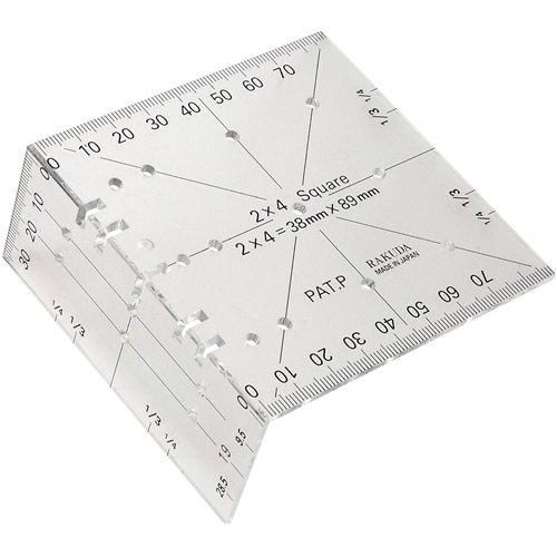 【頑張って送料無料!】ラクダ ツーバイフォー定規定形外郵便のため代引・日時指定不可定規のサイズが2×4材の幅と厚み!
