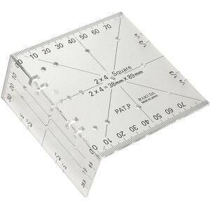 ラクダ ツーバイフォー定規定規のサイズが2×4材の幅と厚み!