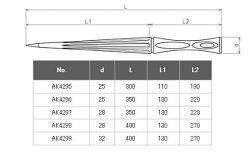 【頑張って送料無料!】浅野金属工業ライトスパイキSG25SAK4295直径25mm×全長300mm
