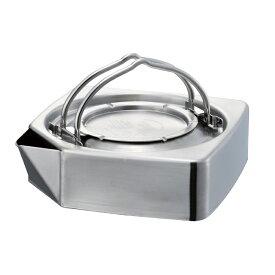 【燕三条製】TSBBQ スクエアケトル[TSBBQ-016]薄く、コンパクト設計のステンレス製角型ケトル。全ての熱源に対応!