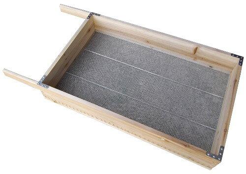 大型木製フルイ2分 目合約6.0mm TW-0100幅890×奥行455×高さ110mm穀物や土のフルイに