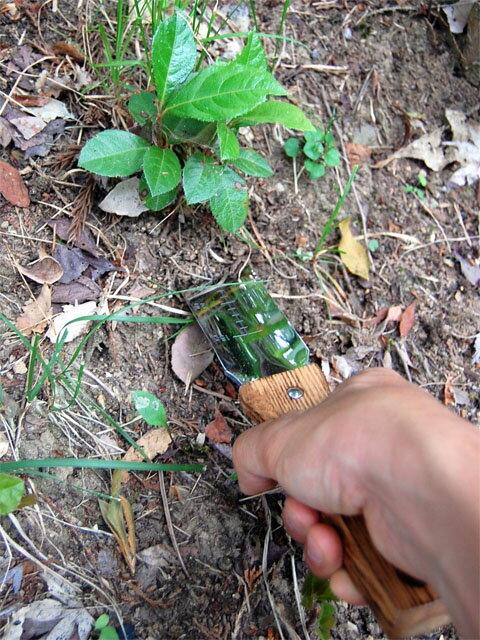 【頑張って送料無料!】仁作 レジャーナイフ両刃型 NO.640山遊び・園芸作業に特化した掘る機能を持つナイフ