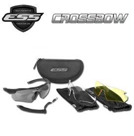 ESS Crossbow 3LS Kit イーエスエス クロスボウ 3レンズ フレーム/ブラック レンズ/スモーク/クリアー/イエロー 740-0387 UVカット サングラス ドライブ サバゲ— 防弾レンズ