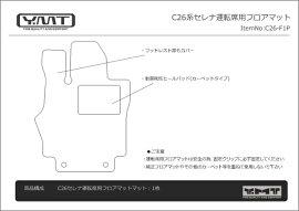 C26系セレナ専用フロント用運転席用フロアマット