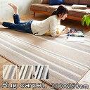 日本製 ストライプ柄 ラグカーペット ストレイル 長方形 220×250cm 防ダニ ラグマット 絨毯 マット じゅうたん ストライプ 柄 ホットカーペット対応 床暖対応 子供部屋 リビング ダイニン
