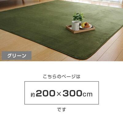 洗える抗菌防臭ラグカーペットピオニー4畳約200×300cm(ホットカーペット対応)