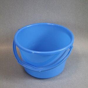 【格安】国産品 ポリバケツ 8L  プラスチックバケツ 青 ブルー 広口 水拭き 学校 オフィス 業務用 清掃用品 掃除道具