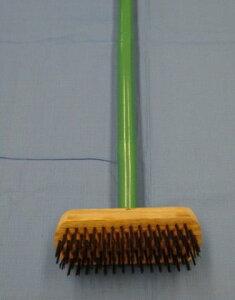 ワイヤデッキ(竹柄)  デッキブラシ ワイヤー 竹柄 長さ120cm 塗装はがし サビおとし コケおとし 清掃用品 掃除道具 大掃除