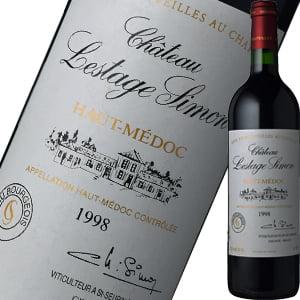 シャトー・レスタージュ・シモン 1998 | 赤ワイン 赤 ワイン お酒 誕生日プレゼント 女性 60代 父 母 お父さん 結婚祝い 内祝い 敬老の日 ギフト プレゼント 還暦祝い 記念日 引っ越し祝い 新築祝い 引越し祝い わいん ボルドー ボルドーワイン フランスワイン フランス