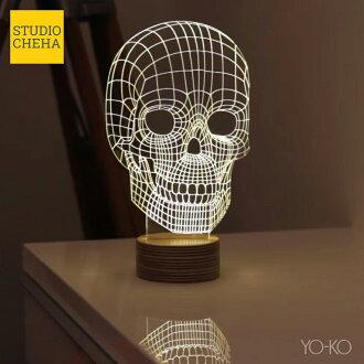 BULBING SKULL LAMP skull valving STUDIO CHEHA LED light interior lighting table lamp night light Interior lamp (480520) P15Aug1510P05Oct15