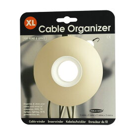 クーポン / 全品2-20倍 / Cable Organizer XL ケーブルオーガナイザーXL ベージュ ケーブル 収納 まとめる 断線防止 おしゃれ かわいい コードリール コード調整 照明 ペンダントライト オランダ製 あす楽 マラソン セール