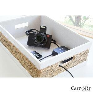 Case-teteハーフ・ホワイト・白・収納ボックス・フタ付き・おしゃれ・収納box・薄型・浅い・かご・バスケット・小物入れ・カラーボックス・シンプル・デザイン・カステットゥ【送料無料】