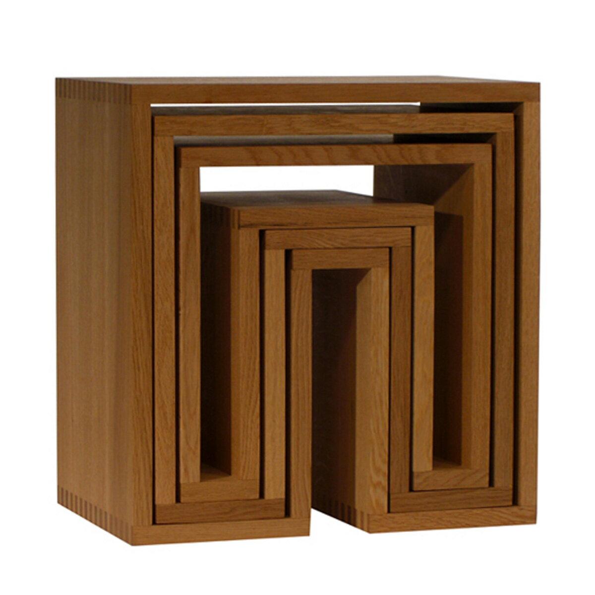 abode 3個セット ネスティングテーブル ナチュラル Nesting Tables 3pc.SET / ウー・バホリヨディン Ou Baholyodhin バホリヨデン SHOJIシリーズ 収納棚・テーブル・什器・スツール・マガジンラック・コンソール