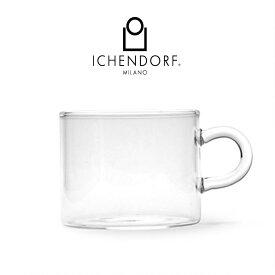 予約 / ICHENDORF MILANO PIUMA TEA CUP ティーカップ ガラス 透明 耐熱ガラス おしゃれ 業務用 グラス ギフト イタリア イッケンドルフ