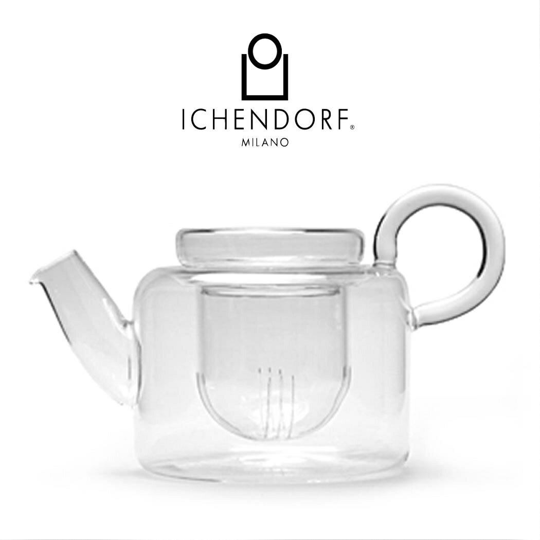 【ポイント20倍】ICHENDORF MILANO PIUMA Tea Pot with filter・3点セット・ティーポット・クリア・ガラス・耐熱・グラス・ガラス製茶葉フィルター・イタリア