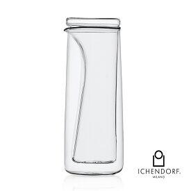 クーポン / ICHENDORF MILANO WALLPAPER HANDMADE JUG ティージャグ ダブルウォール ガラス 透明 容器 おしゃれ 業務用 0.5L ポット ギフト イタリア イッケンドルフ マラソン セール