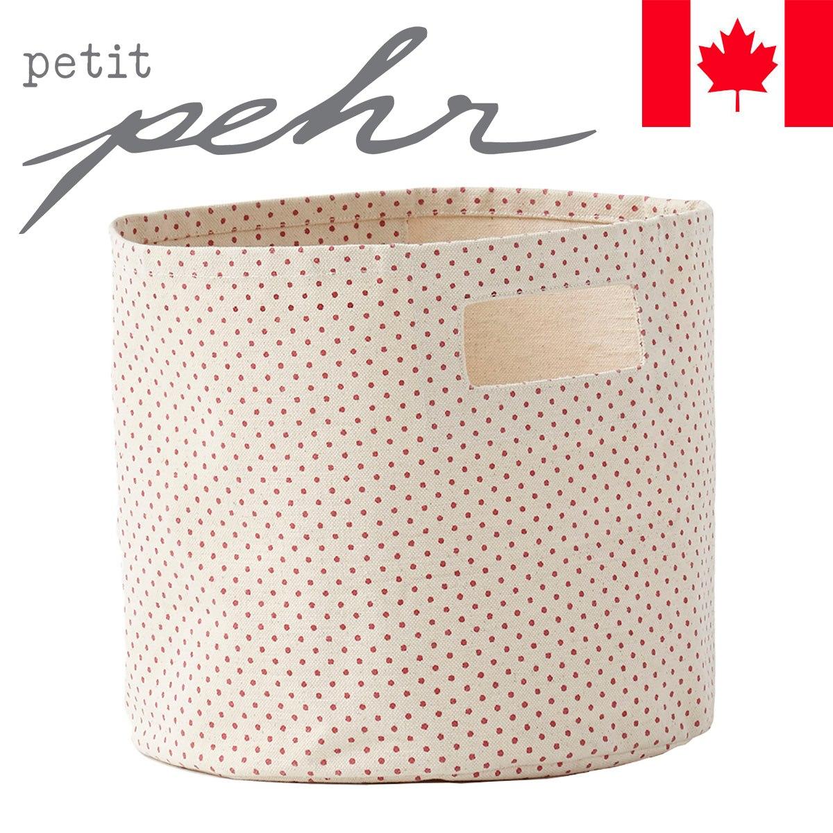 【ポイント20倍】pehr Strage Pints/Pin Dot Pink/ピンクドット リビング収納・小物入れ・布製・収納ボックス・カラーボックス用・帆布・折りたたみタイプ【あす楽】