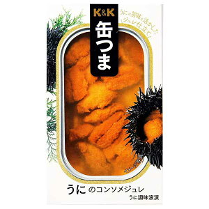 K&K 缶つま うにのコンソメジュレ [缶] 65g x 24個[ケース販売] [K&K国分 食品 缶詰 日本 0317869]