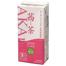 オーガニック茜茶 あずき茶 1L 1000ml x 6本 送料無料 [ケース販売] [遠藤製餡]【お中元】【送料無料】