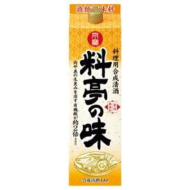 京寶 料亭の味 12度 [紙パック] 1.8L 1800ml x 6本 [ケース販売][宝酒造/日本]【お中元】