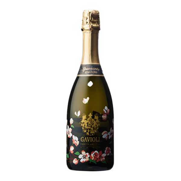 ガヴィオリ スプマンテ エクストラドライ フラワーボトル 750ml [イタリア/エミリア・ロマーニャ/スパークリングワイン/006909]