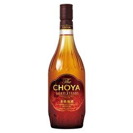 チョーヤ 梅酒 The CHOYA AGED 3 YEARS(ザ チョーヤ スリーイヤー 3年熟成) [瓶] 720ml x 6本[ケース販売] 送料無料※(本州のみ) [チョーヤ梅酒/日本/大阪府/リキュール/梅酒]【ギフト不可】