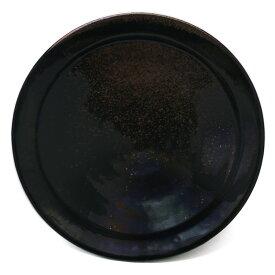 唐津焼:黒唐津六寸五分皿・中村恵子《中皿・6.5寸・20.0cm》