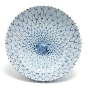 おでんの取り皿はこれしかありません!染付網目6.5寸深皿・阪東晃司