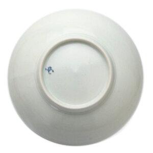 白磁:白磁しのぎ6寸深皿・阿部春弥《中皿・直径17.7cm》