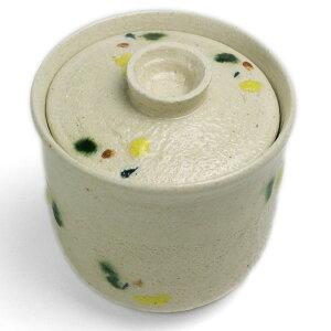 白釉点紋蓋付小碗・大・有松進